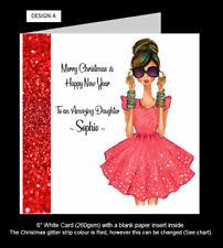 Girlie Christmas Card, Cute Christmas Card, Friend, Daughter, Sister, Niece etc