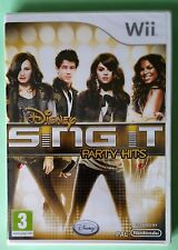 DISNEY SING IT PARTY HITS Wii SOLUS GAME new & sealed DEMI, BIEBER, SELENA etc.