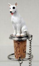 Bull Terrier Dog Hand Painted Resin Figurine Wine Bottle Stopper