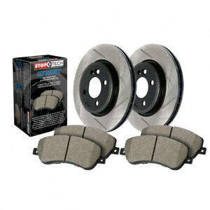 StopTech For Subaru Impreza 2008-2014 Axle Pack Rear Rotor + Rear Pads Package
