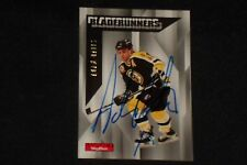 HOF ADAM OATES 1996-97 SKYBOX IMPACT SIGNED AUTOGRAPHED CARD #17 BOSTON BRUINS
