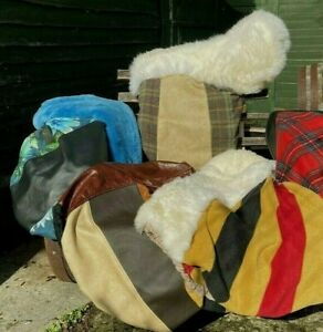 Luxury Saddle Covers Sheepskin, Leather, Velvet, Fleece, Wool. Great Horsey Gift