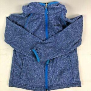 Columbia Boys Zip-Up Hoodie Jacket Blue Heathered Long Sleeve S-8
