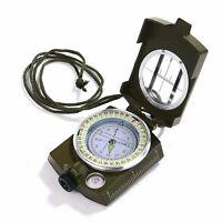 Gwhole Kompass Militär Marschkompass Mit Tasche Für Camping, Wanderung, Deutsc