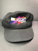 vintage Team Nascar Team racing snapback Hat Cap Rope Black