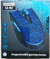 ENHANCE GX-M2 Gaming Mouse w/ 7 Programmable Buttons, NIB, 3 DPI settings, more