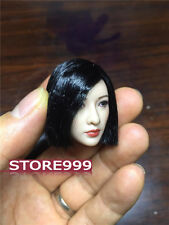 """Balck Hair Female Asian Actress Head Sculpt Toy Carving Model 1/6 For 12"""" Figure"""