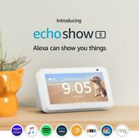 Echo Show 5 - Compact smart display with Alexa - Charcoal or Sandstone Brand New