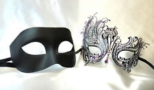 Black Swan Couple Masquerade Mask Costume Steampunk School Prom Wedding Bachelor