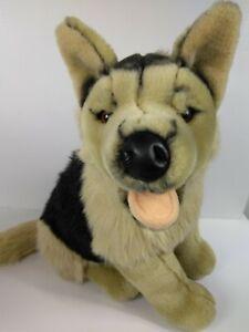 "Deluxe FAO Schwarz Fifth Avenue 15"" Plush German Shepherd Stuffed Animal Dog"