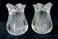 Vtg. Gorham Lotus Salt & Pepper Set Crystal Made in Germany Unused Mint in the B