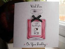 Tarjeta De Cumpleaños perfume hecho a mano personalizado Hembra Hija esposa Hermana Mamá 18th