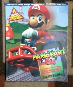 Mario Kart 64 Nintendo Power Official Strategy Guide + Bonus Bumper Stickers