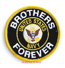 BROTHERS FOREVER US NAVY HAT PATCH USS OFFICER CHIEF SAILOR VETERAN PIN NS NAS