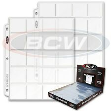 Combo Pack 100 BCW Pro 20 Pocket Pages plus 1400 Cardboard Coin Holders