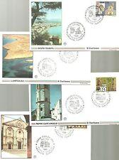 ITALIA N. 4 BUSTE FILAGRANO 1996 TURISMO PIENZA DIANO LAMPEDUSA SANT'ANGELO FDC