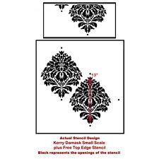 Kerry Damask Wall Stencil - SMALL - Reusable Stencils - Better Than Wallpaper!
