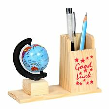 Handicraft Pen & Pencil Holder Stand with Attached Golbe