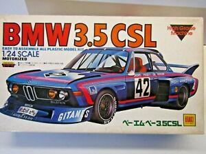 Otaki Vintage 1:24 Scale BMW 3.5CSL Motorized Model Kit - New - Kit #OT3-89-1000