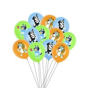 "10PCS 12"" BINGO BLUEY Themed Latex Printed Balloons Kids Birthday Party Supplies"