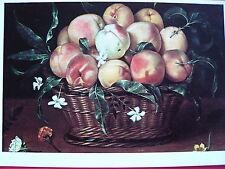 1 AK Kunstkarte  PRO INFIRMIS  Fede Galizia Korb mit Pfirsichen