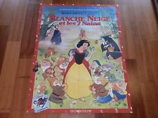 ORIGINAL MOVIE POSTER SNOW WHITE AND THE 7 DWARFS 1937 FRENCH ONE-PANEL 'GRANDE'