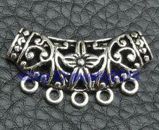 15pcs Tibetan silver charm flower hollow Connectors fit necklace 37x17mm G3414
