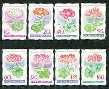 Roemenië 2686 - 2693 postfris  motief Bloemen / Geraniums
