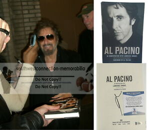 Al Pacino Scarface Godfather Signed Hardcover 1st Edition Book Proof Beckett BAS