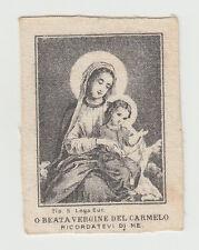 Beata Vergine del Carmelo Santino Canivet immagine Sacra 800