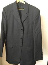 """Dark Grey Wool Suit. Jacket 42"""" W36 L33 <T11262"""
