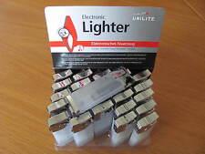25 Stück Mini Feuerzeuge UNILITE transparent / Weiß im Karton