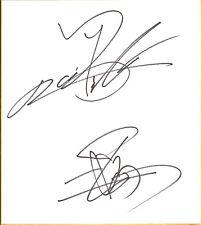 Kazuchika Okada & Hiroshi Tanahashi Signed Shikishi BAS New Japan Pro Wrestling