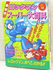 ROCKMAN Super Daihyakka w/Poster Megaman Art Fanbook Book KO07 Condition D