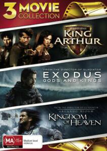 King Arthur / The Kingdom Of Heaven / Exodus - Gods And Kings : NEW DVD