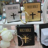NE_ GI- Mini Holy Bible Cross Pendant Keychain Religious Christian Keyring Decor