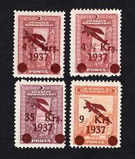 Turkey 1937 4 stamps Mi#1016-18 MH CV=72€