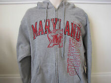 Maryland Terrapins Russell Athletic Gray Zipper Hoodie - Large - New