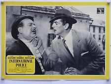 INTERNATIONAL POLICE poliziesco di Gilling con V.Mature A.Ekberg fotobusta 1957