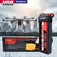HRB Graphene Lipo Battery 14.8V 6000mAh 4S 100C XT90 For 1/4-Scale Traxxas Xmaxx