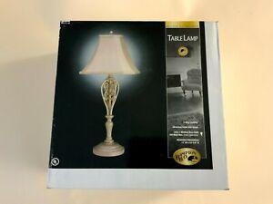 """3 WAY TABLE LAMP  HAMPTON BAY 26"""" ANTIQUE SILVER"""