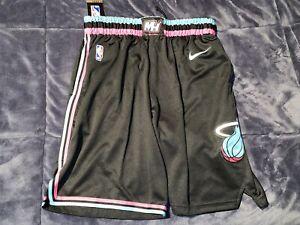 Miami Heat Vice Nights City Edition Black Swingman Shorts RARE - 34 (M), 38 (L)