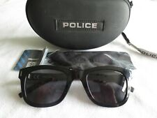 Police black / gunmetal frame polarized sunglasses. Wager 2. With case.