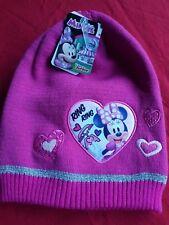 Disney Junior Minnie Mouse Pink Woollen Love Heart Hat