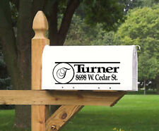 Mailbox Lettering Design, Personalized, 2 sets of Vinyl Die Cut Decal Sticker