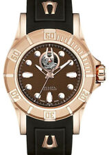Bulova 64A100 Accutron Kirkwood Diver Swiss Automatic Brown Dial Rose Gold Tone