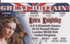 Keira Knightley/  Elizabeth Swann the Pirates of the Caribbean  Drivers License