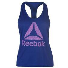 Ladies Genuine Reebok Lightweight Workout Logo Muscle Back Tank Top Size 6-18