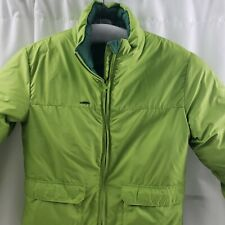 """Columbia Reversible Down Puffer Jacket Green Womens Small 36"""" Chest"""
