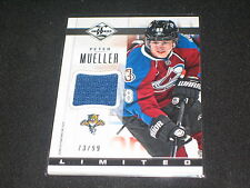 PETER MUELLER GENUINE CERTIFIED AUTHENTIC GAME USED HOCKEY JERSEY CARD /99 RARE